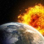 Earth-Sun-Solar-Flare-Space
