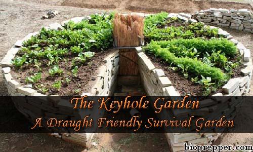 The Keyhole Garden- A Draught Friendly Survival Garden